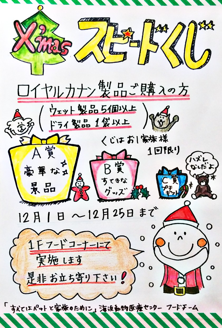 ロイヤルカナンクリスマススピードくじポスター